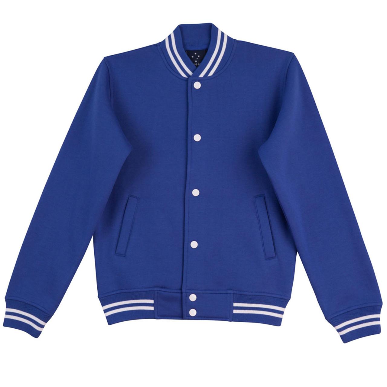 e83d248f JOCK   Adult Unisex Plain Varsity Jacket