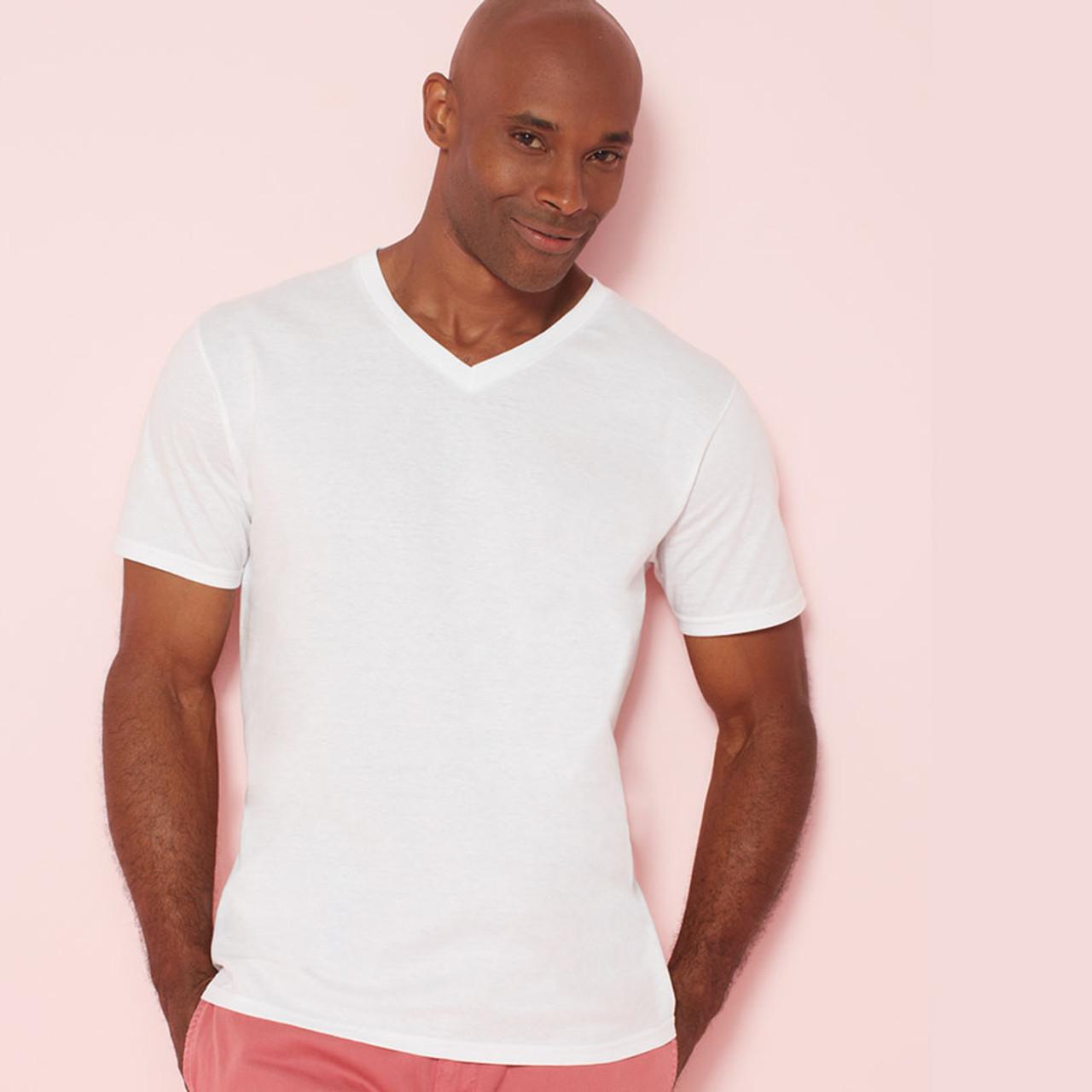 Miami Mens 100 Cotton Soft V Neck T Shirt