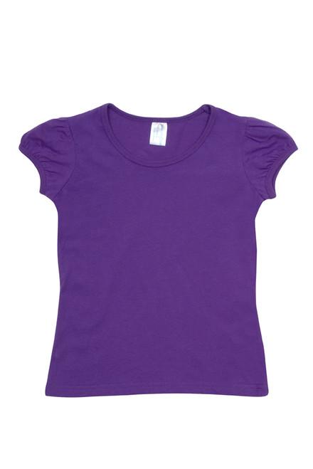 f566555d91784d ... Baby Kids Plain Puff Sleeve Tshirt