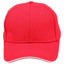 Red +White | Shop Pique Mesh Sandwich Peak Baseball Cap