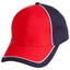 Navy+White+Red | Cotton Twill Two Tone Baseball Cap