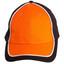 Black+White+Orange | Cotton Twill Two Tone Baseball Cap