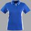 Royal+White | Bulk Discount Womens Contrast Sports Polo Shirts
