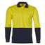 Yellow+Navy | Mens Cotton Jersey Safety Long Sleeve Polo