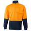 Orange+Navy | Mens Hi-Vis Cotton Fleecy Zip Sweater
