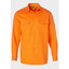 Mens Hi-Vis Long Sleeve 100% Cotton Drill Shirt