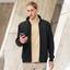 Bulk Buy Mens Jacquard Fleece Black Bomber Jackets Online