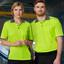 Unisex Hi-Vis Bamboo Short Sleeve Polo Shirts