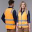 Orange Hi-Vis Safety Vest With Reflective Tapes
