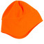 plain polar beanie with ear cover | fluoro orange