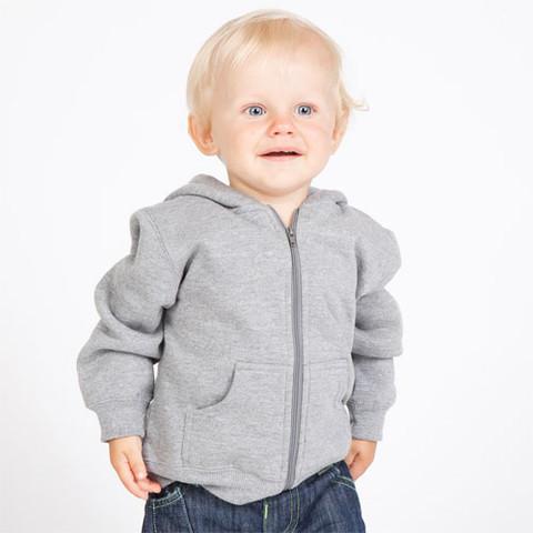 22ec83a2350e baby zip thru hoodies plain cotton-rich