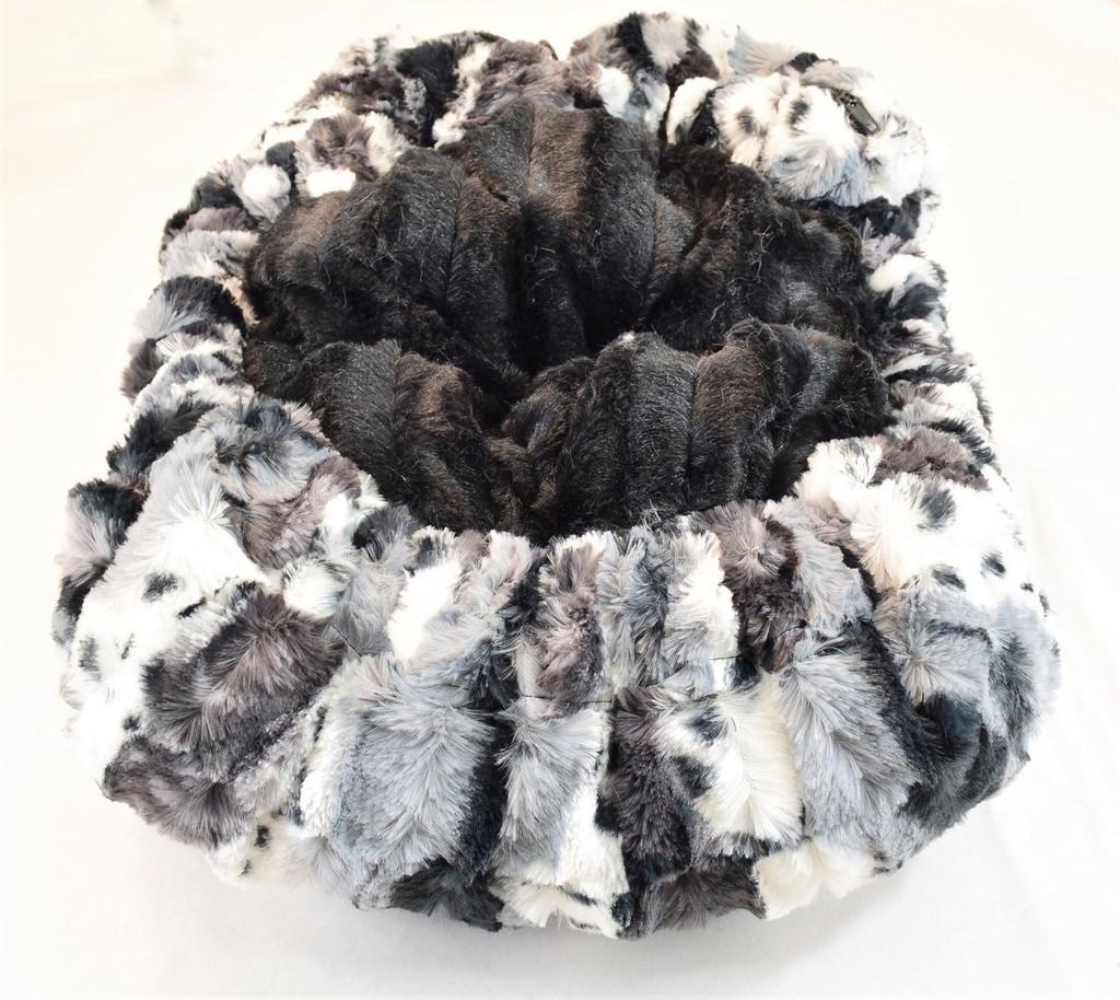 Exotic Fur Black & Black Mink Travel Bed/Blanket