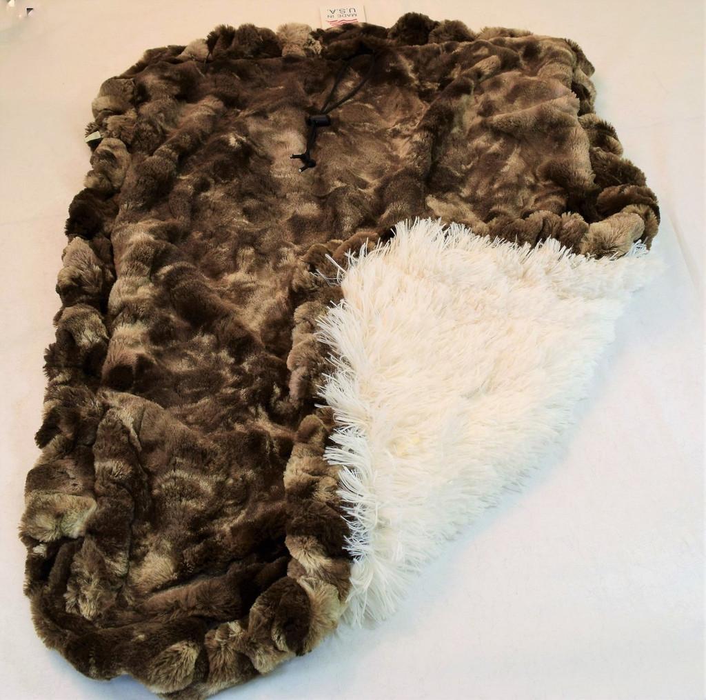 Grey Rabbit & Cream Shag Travel Bed/Blanket