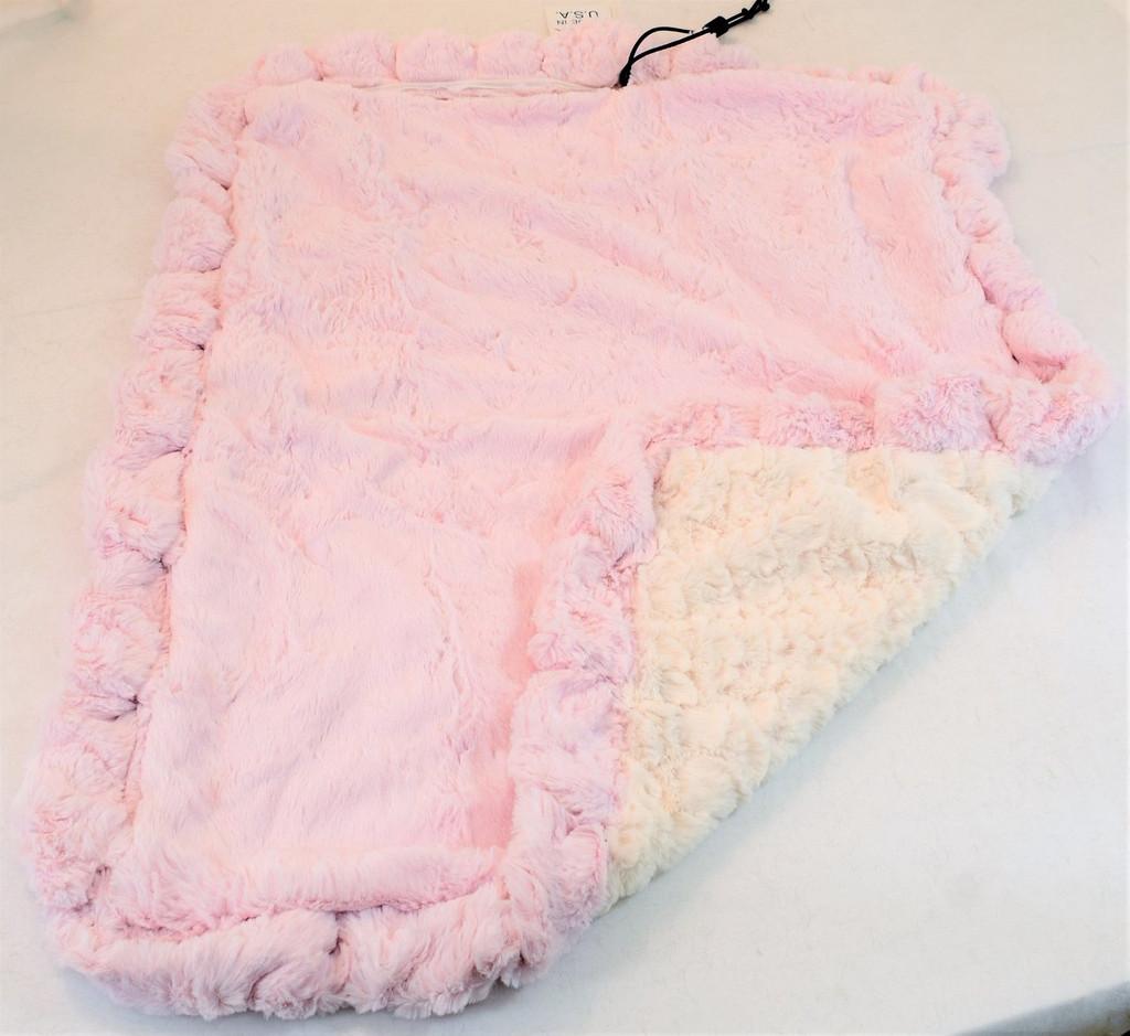 Pink Mink & Cream Crocodile Travel Bed/Blanket