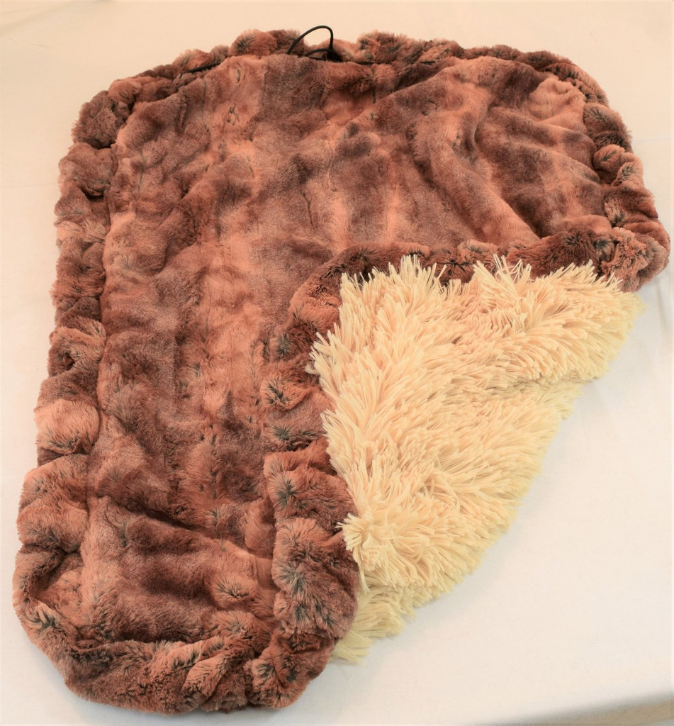 Rusty Fox & Camel Shag Travel Bed/Blanket