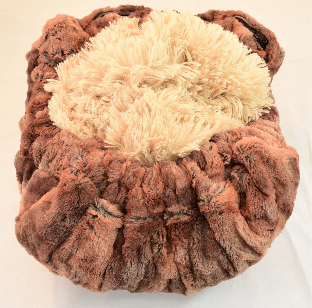 Rusty Fox & Camel Shag Travel Bed/Blanket