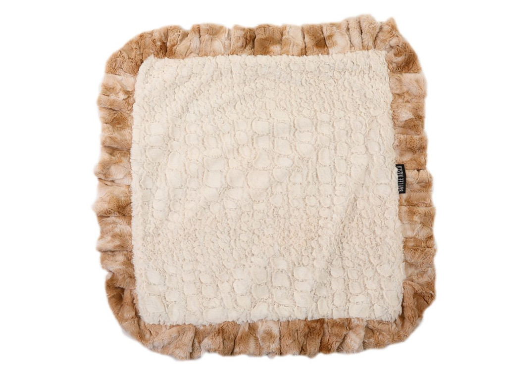 Beige Rabbit with Cream Crocodile Blanket