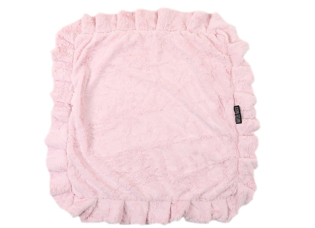 Light Pink Mink with Cream Crocodile Blanket