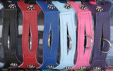 Non-Metallic Black (NBK), Red (NRD), Blue (NBL), Baby Blue (NBB), Pink (NPK), Purple (NPU)  Please note that the Metallic and Non-Metallic are single ply leather that is finished on the top side and has the unfinished suede look on the back side.