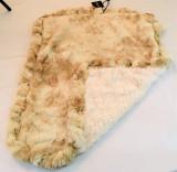 Beige Rabbit & Cream Crocodile Travel Bed/Blanket