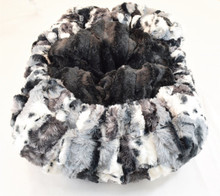 Exotic Fur Black & Black Mink Travel Bed/Blanket