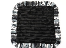 Exotic Black with Grey and Black Mink Blanket