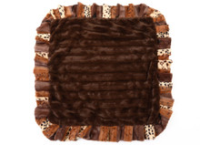 Exotic Fur Brown with Gold and Chocolate Mink Blanket