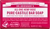 Dr Bronner's All-One Hemp Rose Pure-Castile Soap Bar