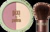 Pixi Beauty Blush Duo + Kabuki Brush - Rose Gold 10.21g