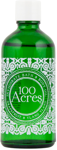 100 Acres Grapefruit & Ylang Ylang Invigorating Bath & Body Oil