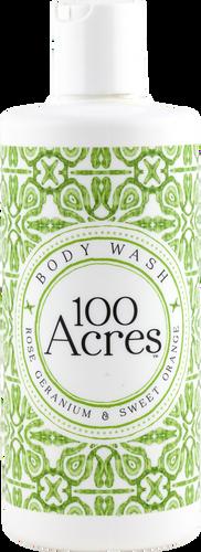 100 Acres Rose Geranium & Sweet Orange Body Wash - 300ml
