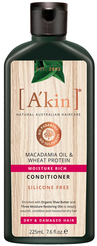 A'kin Macadamia & Wheat Protein Treatment Conditioner - 225ml