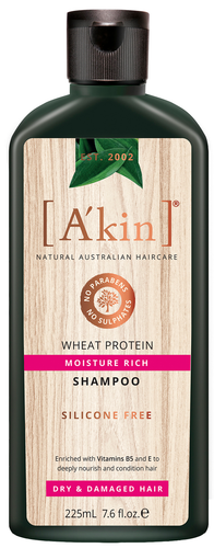 A'kin Rice Aminos & Wheat Protein Intensive Moisture Shampoo - 225ml