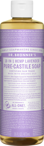 Dr Bronner 18-in-1 Hemp Lavender Pure-Castile Soap - 946ml