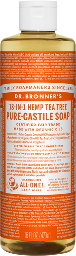Dr Bronner 18-in-1 Hemp Tea Tree Pure-Castile Soap - 946ml