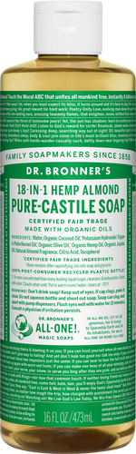 Dr Bronner's 18-in-1 Hemp Almond Pure-Castile Soap - 946ml