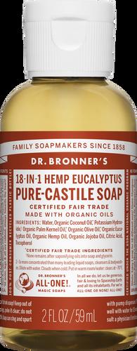 Dr Bronner's 18-in-1 Hemp Eucalyptus Pure-Castile Soap - 60ml