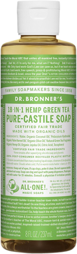 Dr Bronner's 18-in-1 Hemp Green Tea Pure-Castile Soap - 237ml