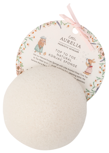 Little Aurelia Top to Toe Natural Konjac Sponge