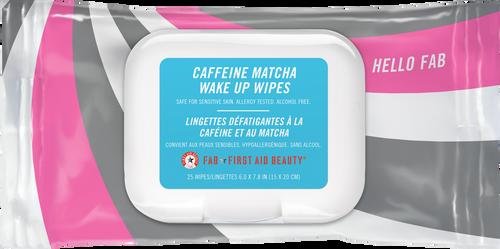 First Aid Beauty Hello FAB Caffeine Matcha Wake Up Wipes