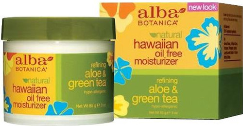 Alba Botanica Natural Hawaiian Oil-Free Aloe & Green Tea Moisturizer