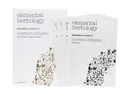 Elemental Herbology Nutrition Infusion Sheet Masks - 4 x Sheet Masks