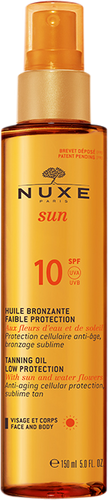Nuxe Sun Tanning Oil Face & Body SPF 10