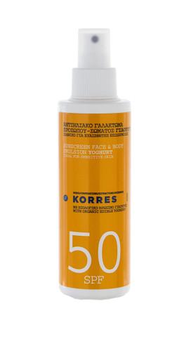 Korres Yoghurt Face & Body Sunscreen Emulsion SPF50 - 150ml