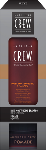 American Crew Get The Look Daily Shampoo & Pomade Duo