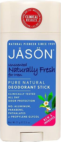 Jason Unscented Naturally Fresh for Men Pure Natural Deodorant Stick