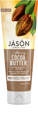 Jason Organic Softening Cocoa Butter Pure Natural Hand & Body Lotion