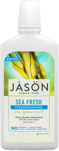 Jason Sea Fresh Strengthening Sea Spearmint All Natural Mouthwash