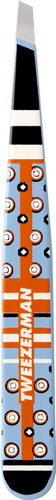 Tweezerman Cynthia Rowley Designer Series Slant Tweezer - Light Blue & Orange