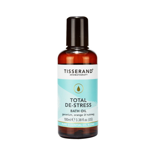 Tisserand Aromatherapy Total De-Stress Bath Oil - 100ml